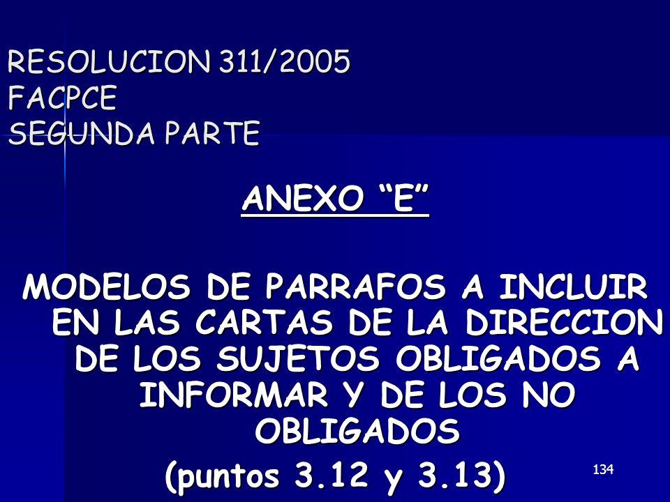 RESOLUCION 311/2005 FACPCE SEGUNDA PARTE