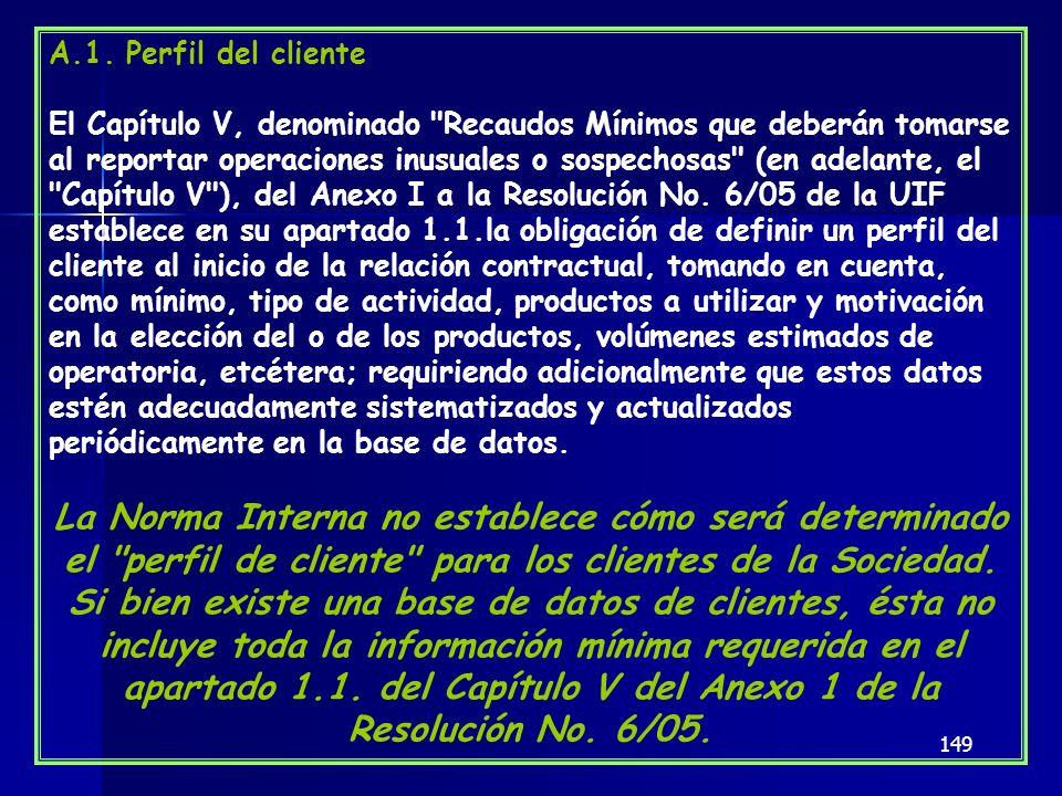 A.1. Perfil del cliente