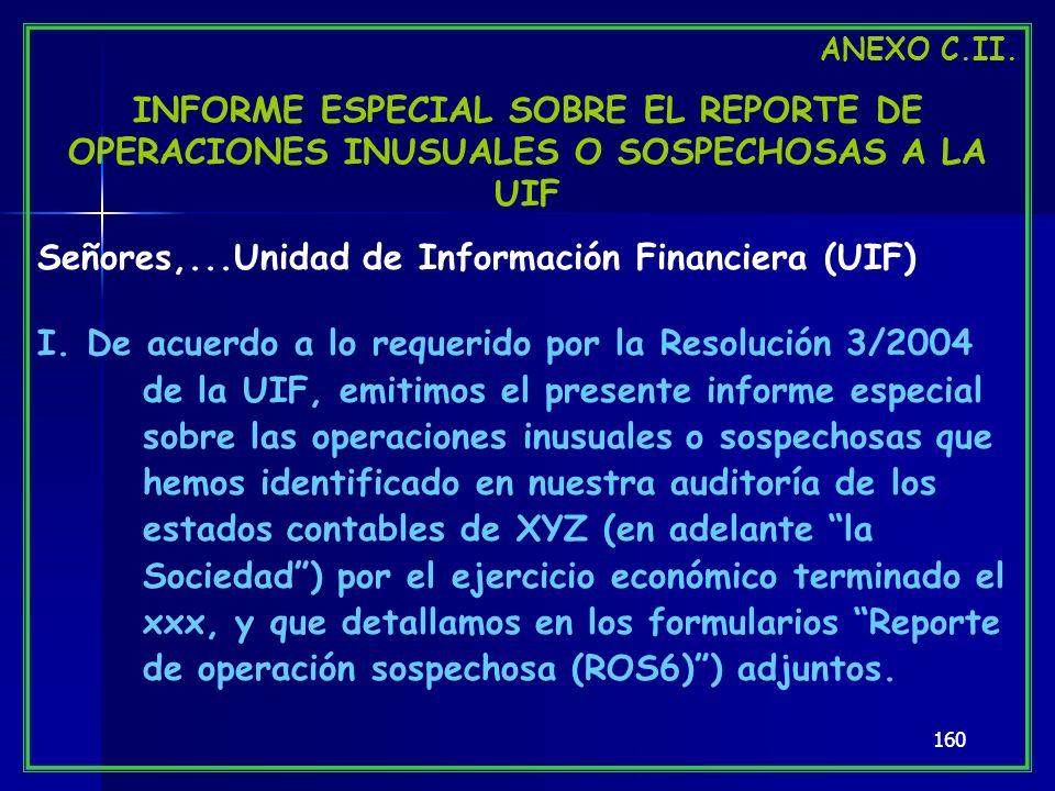 Señores,...Unidad de Información Financiera (UIF)