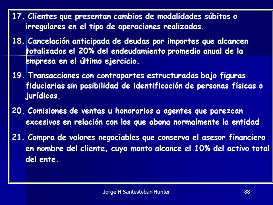 Jorge H Santesteban Hunter