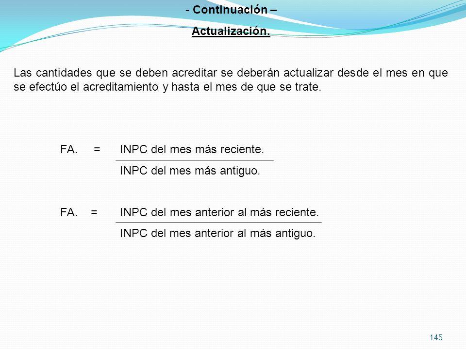 Continuación – Actualización.