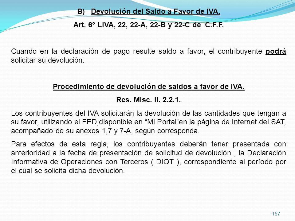 Devolución del Saldo a Favor de IVA.