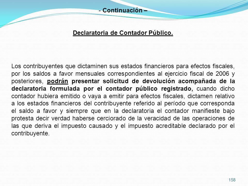 Declaratoria de Contador Público.