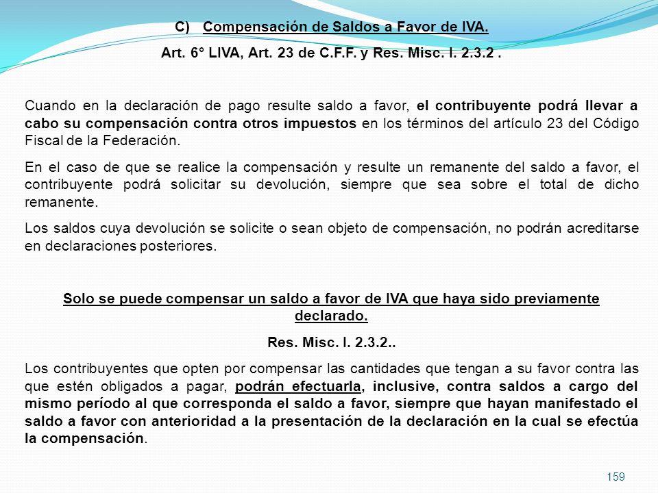 Compensación de Saldos a Favor de IVA.