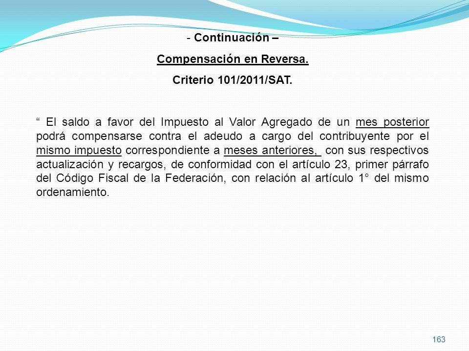 Compensación en Reversa.