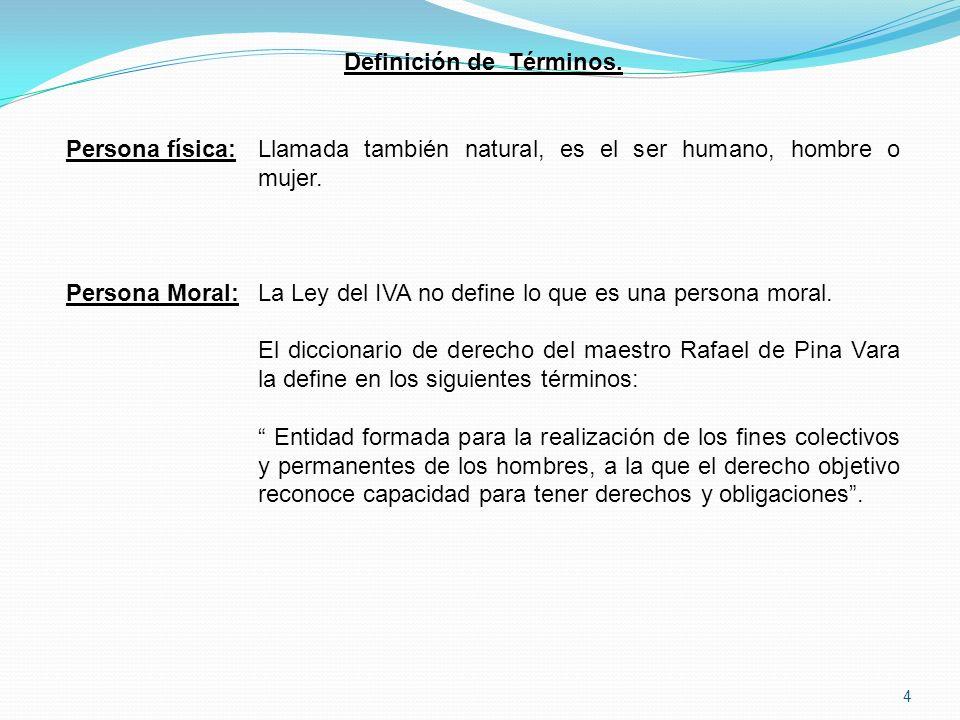 Definición de Términos.