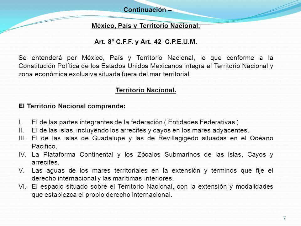 México, País y Territorio Nacional.
