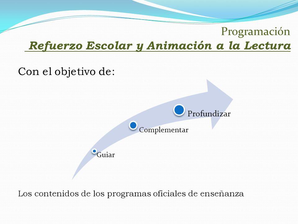 Programación Refuerzo Escolar y Animación a la Lectura