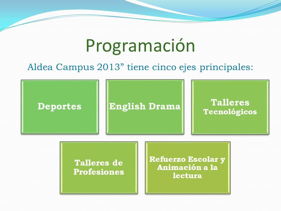 Programación Aldea Campus 2013 tiene cinco ejes principales: Deportes