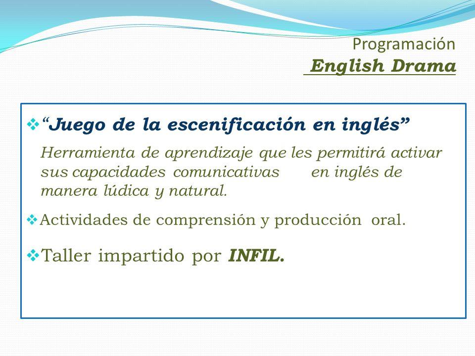 Programación English Drama