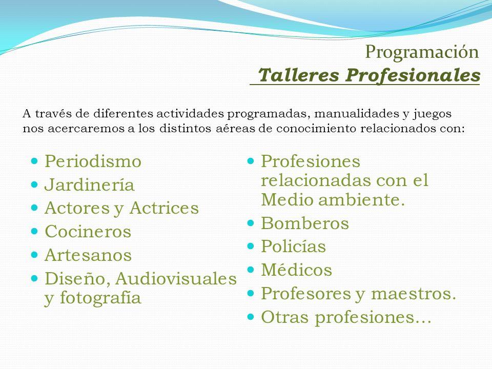 Programación Talleres Profesionales