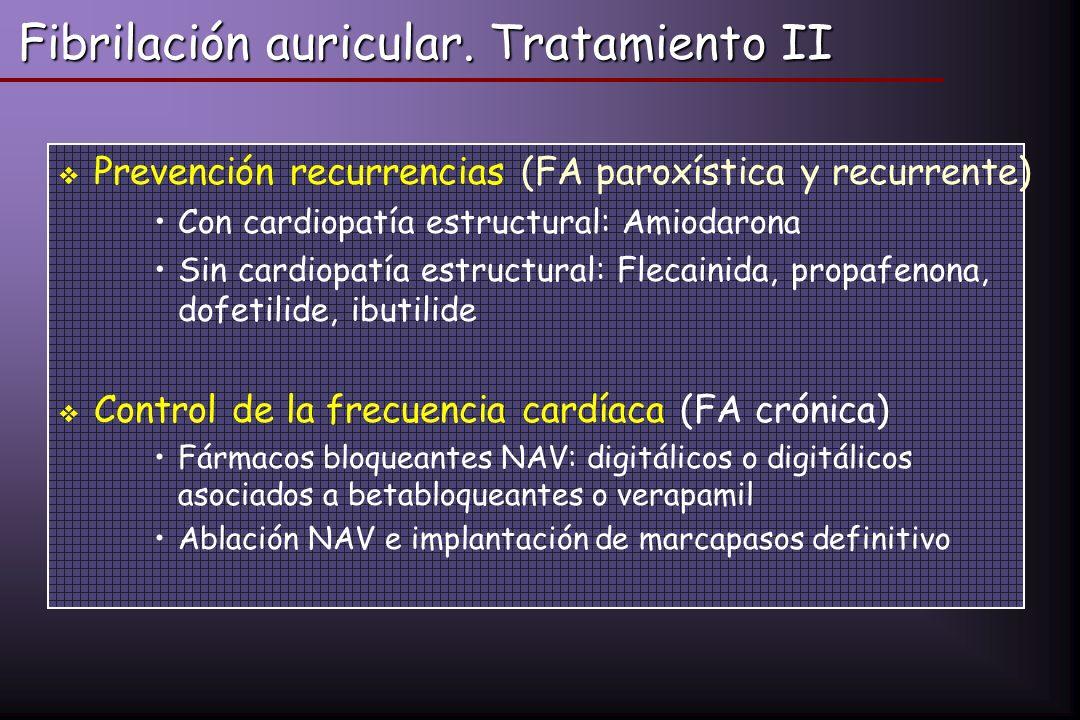 Fibrilación auricular. Tratamiento II