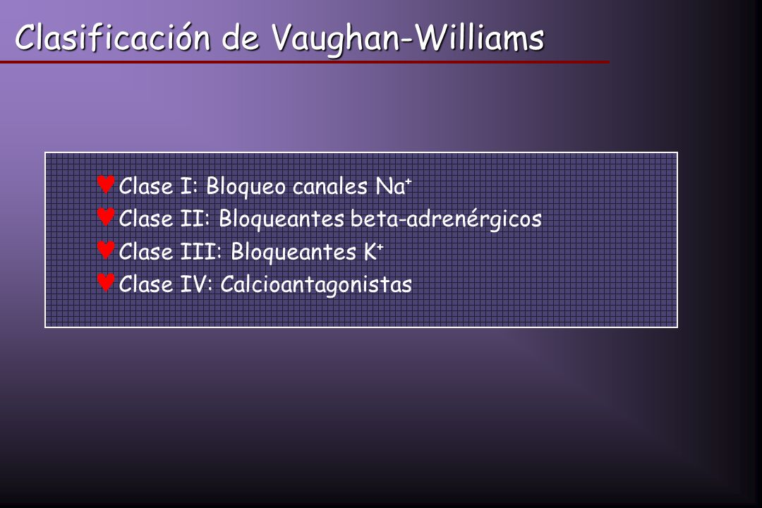 Clasificación de Vaughan-Williams