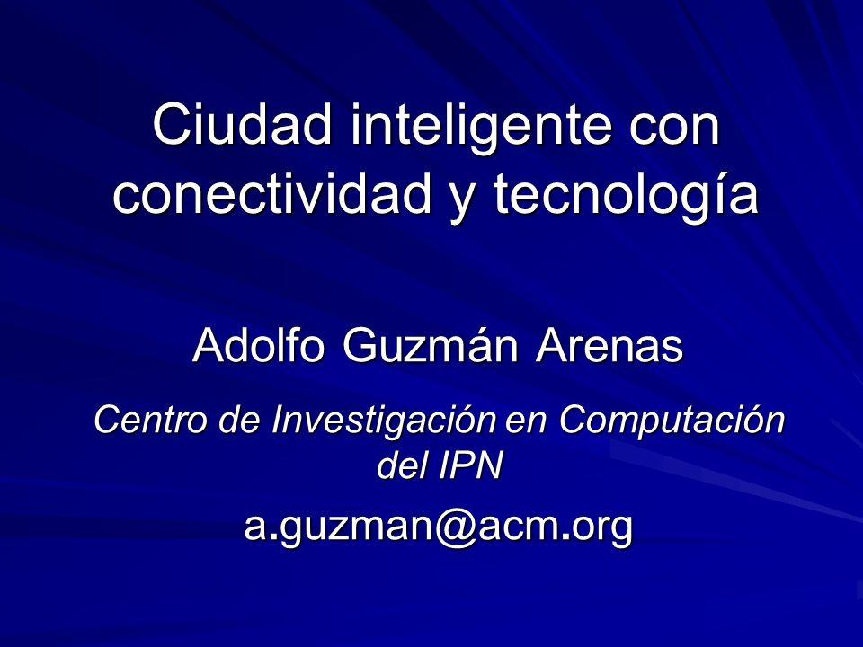 Ciudad inteligente con conectividad y tecnología