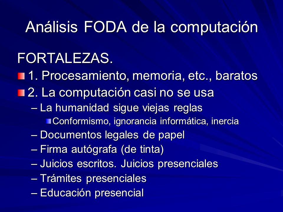 Análisis FODA de la computación