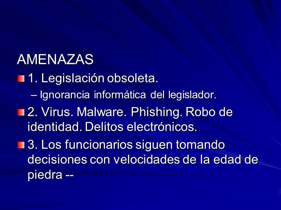 AMENAZAS 1. Legislación obsoleta.