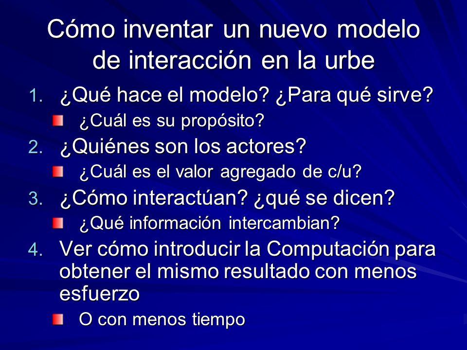 Cómo inventar un nuevo modelo de interacción en la urbe