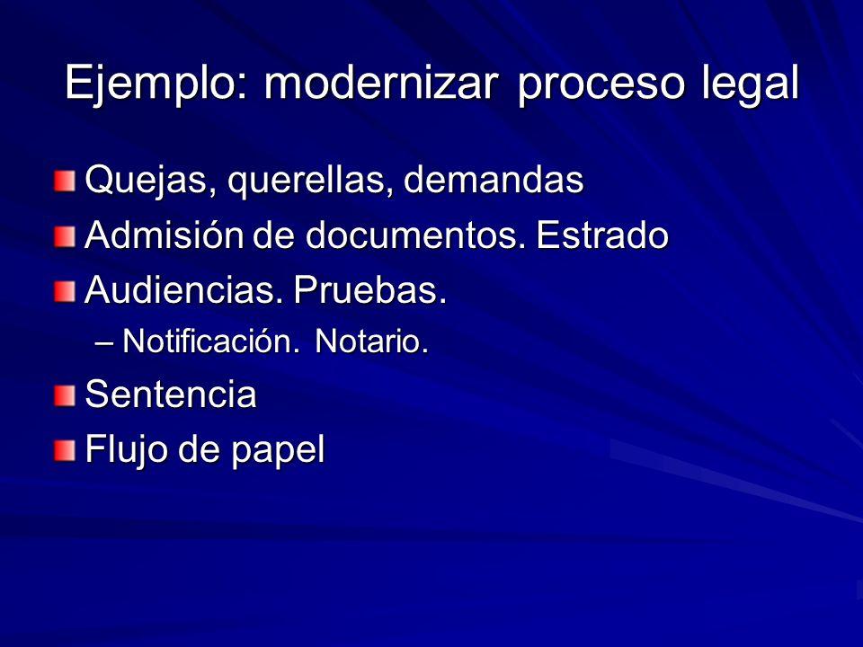Ejemplo: modernizar proceso legal