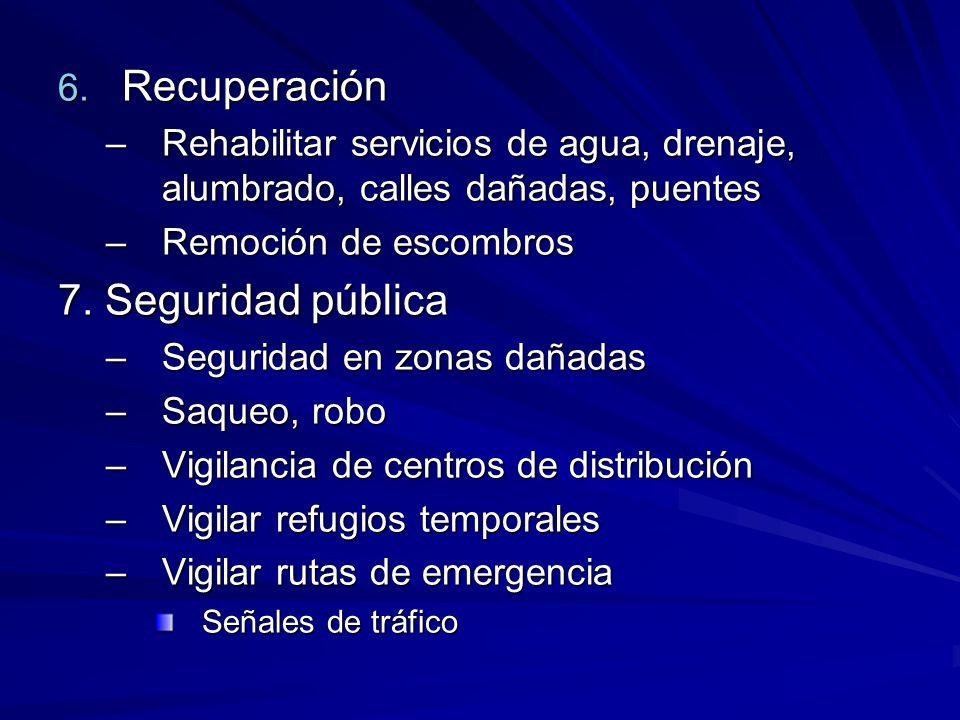 Recuperación 7. Seguridad pública