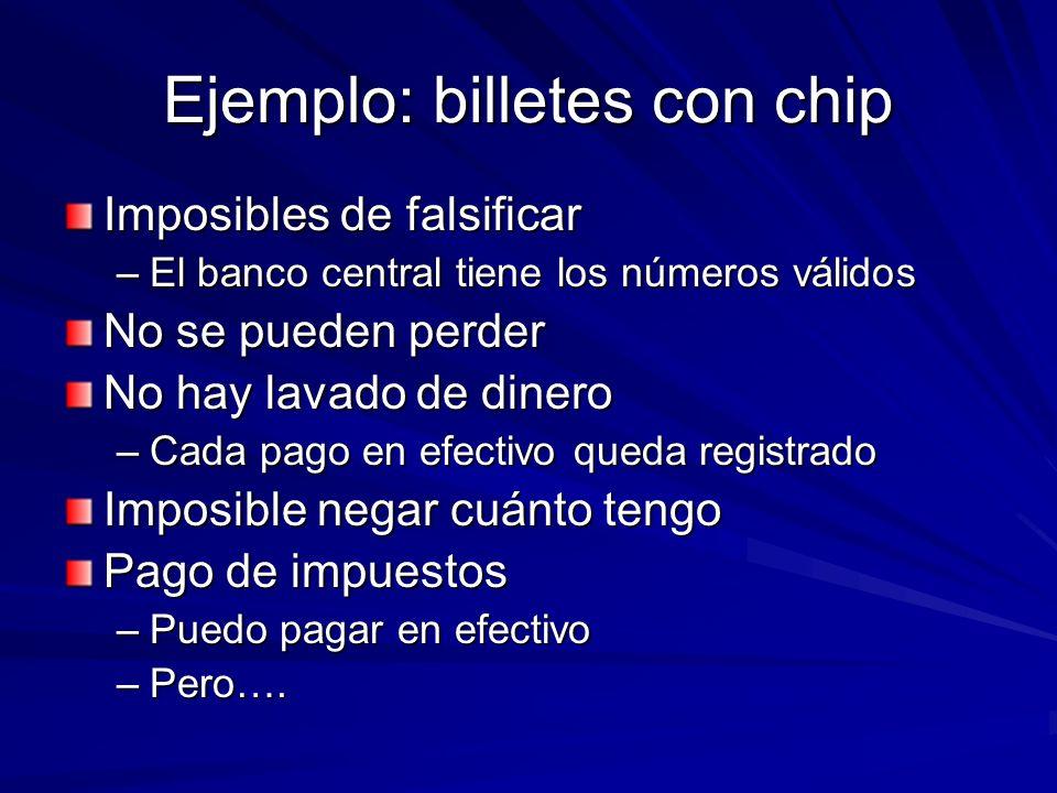 Ejemplo: billetes con chip