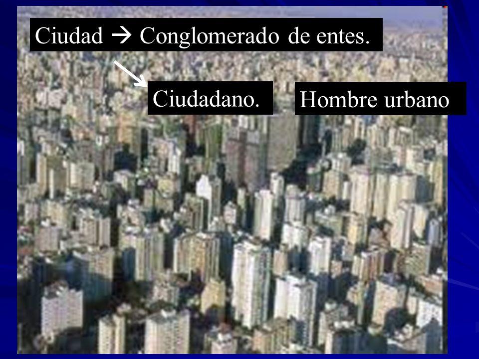 Ciudad  Conglomerado de entes.