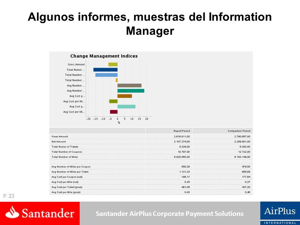 Algunos informes, muestras del Information Manager