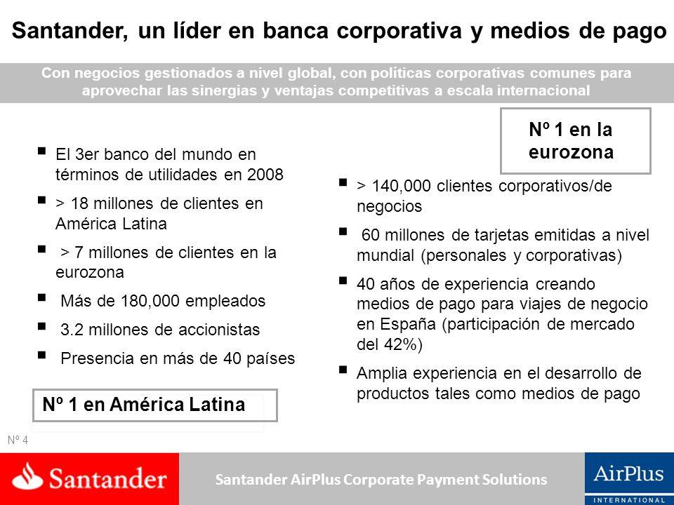 Santander, un líder en banca corporativa y medios de pago