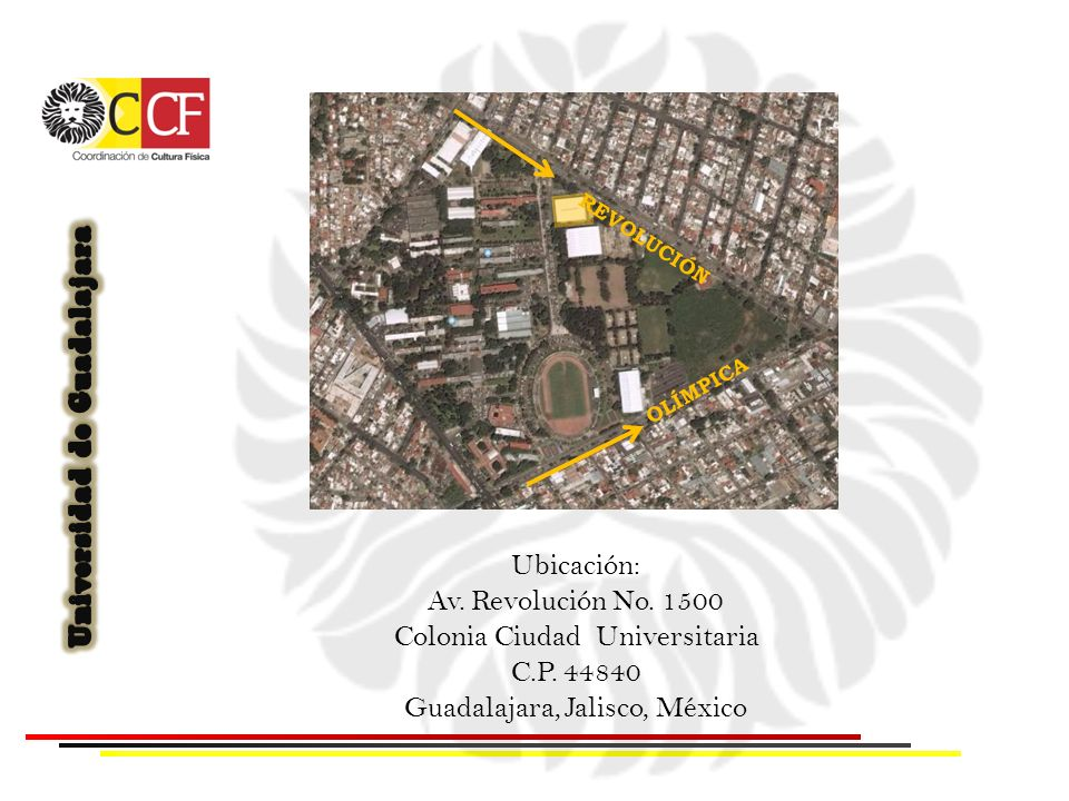 Colonia Ciudad Universitaria C.P. 44840 Guadalajara, Jalisco, México