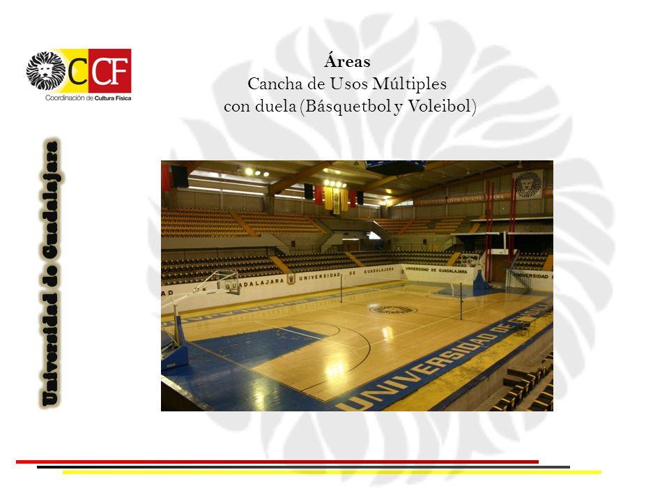 Cancha de Usos Múltiples con duela (Básquetbol y Voleibol)