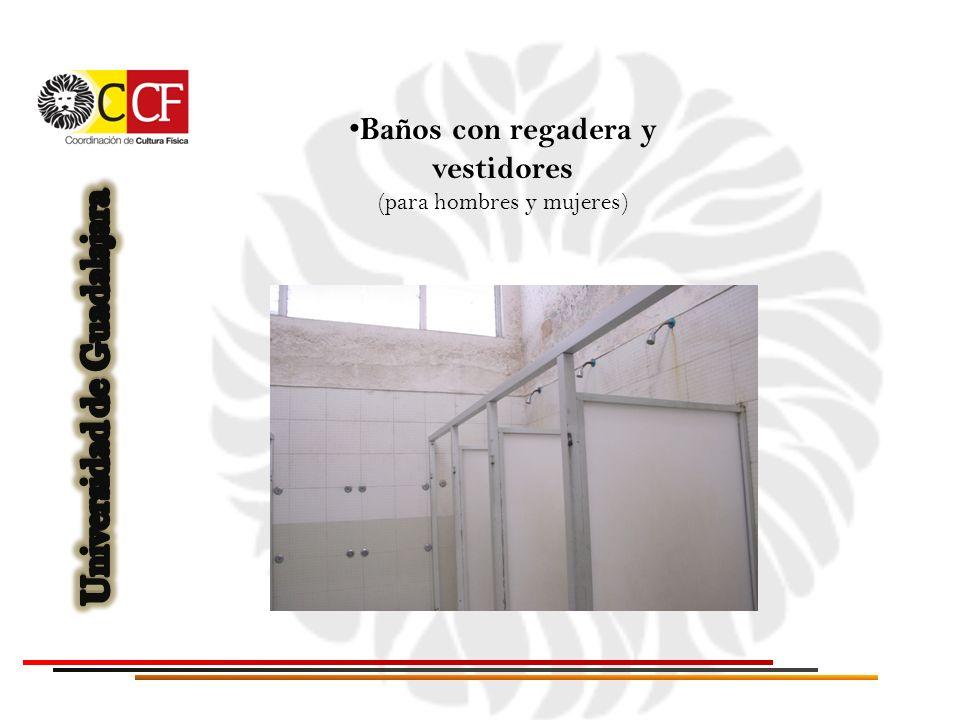 Baños con regadera y vestidores Universidad de Guadalajara