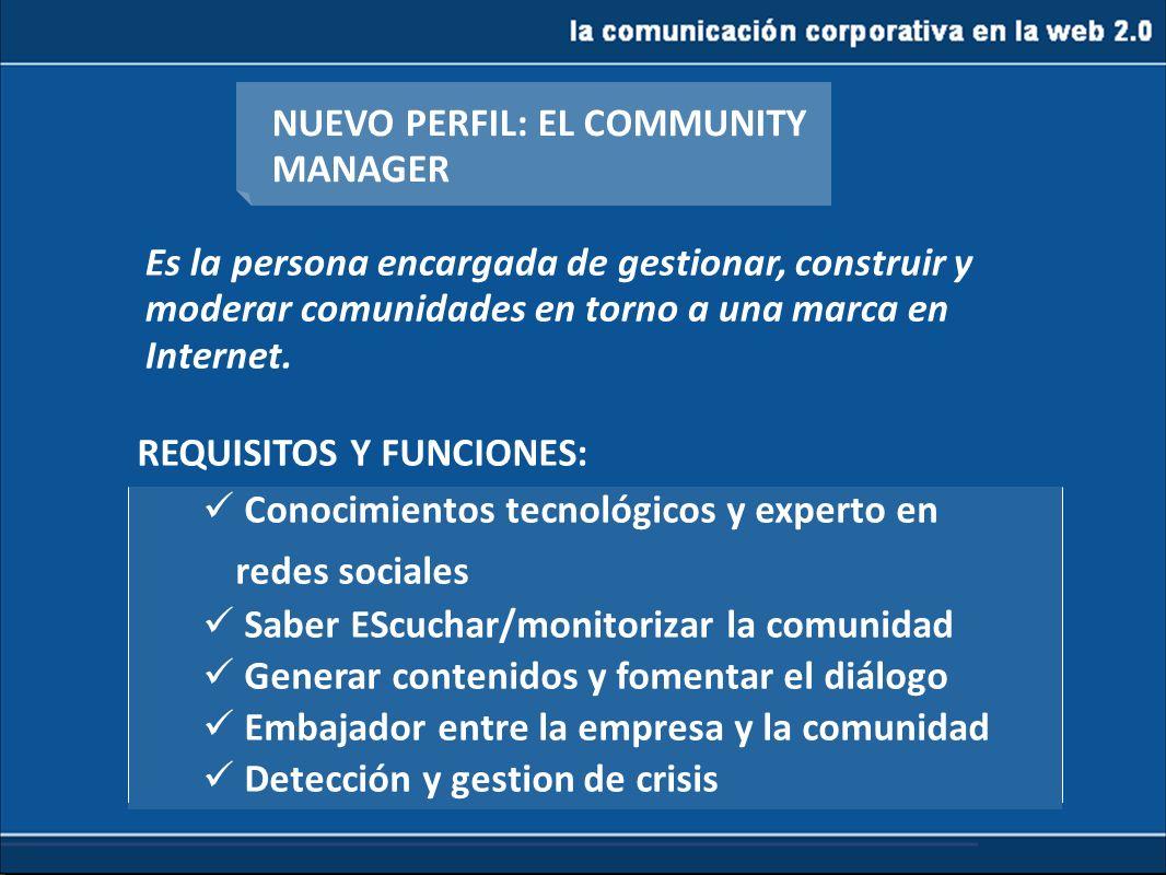 NUEVO PERFIL: EL COMMUNITY MANAGER