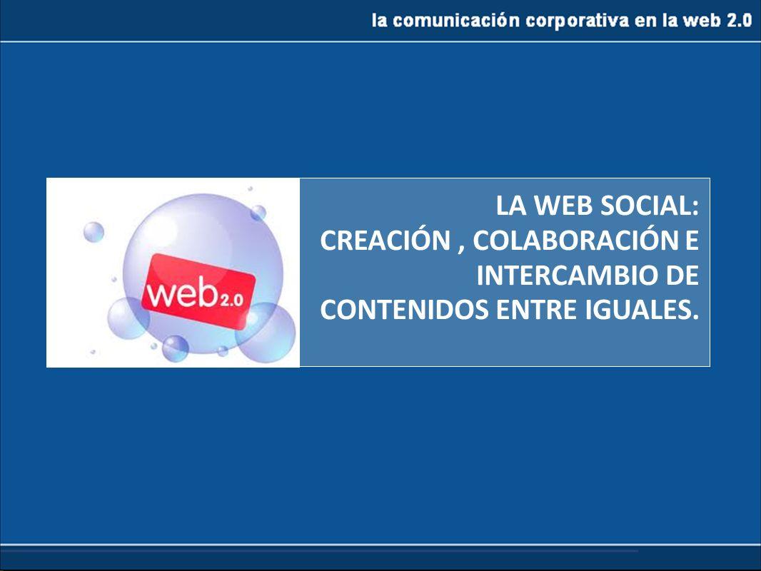CREACIÓN , COLABORACIÓN E INTERCAMBIO DE CONTENIDOS ENTRE IGUALES.