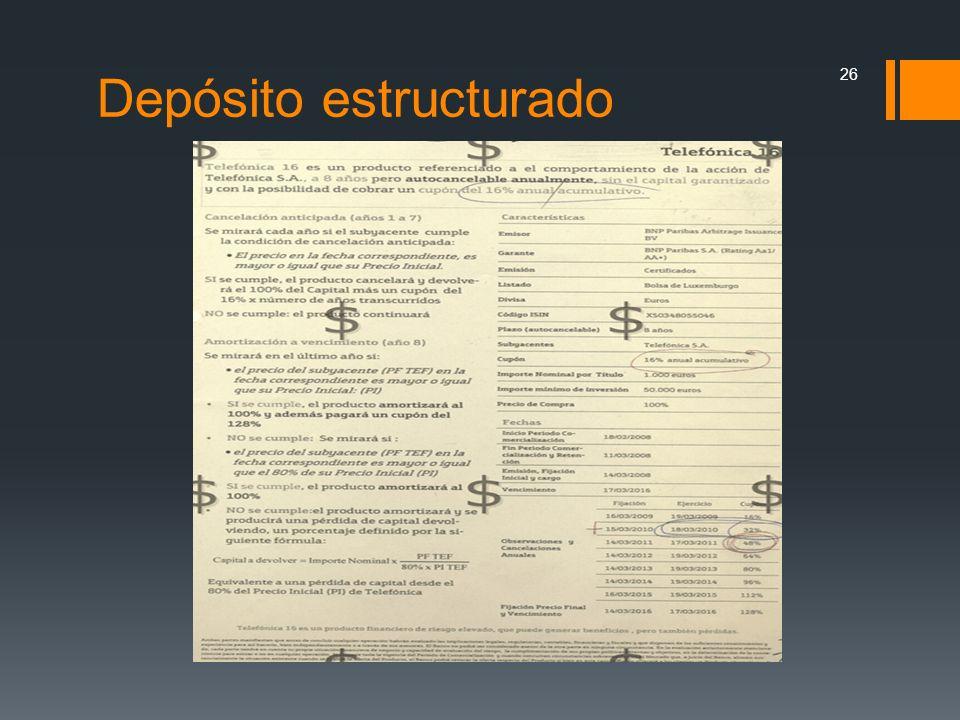 Depósito estructurado