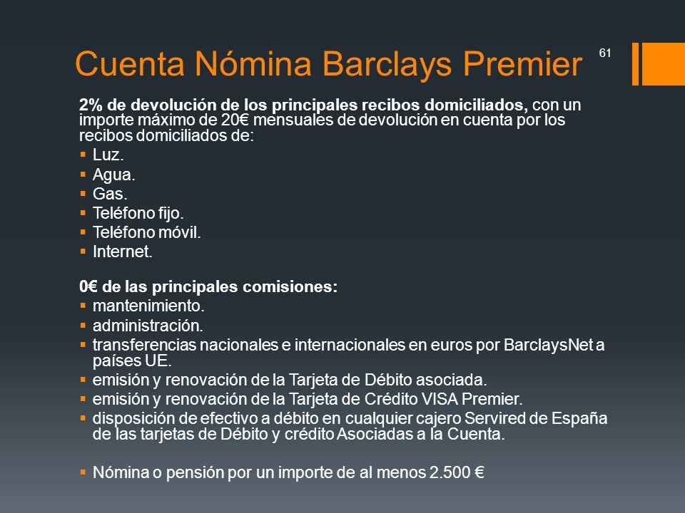 Cuenta Nómina Barclays Premier