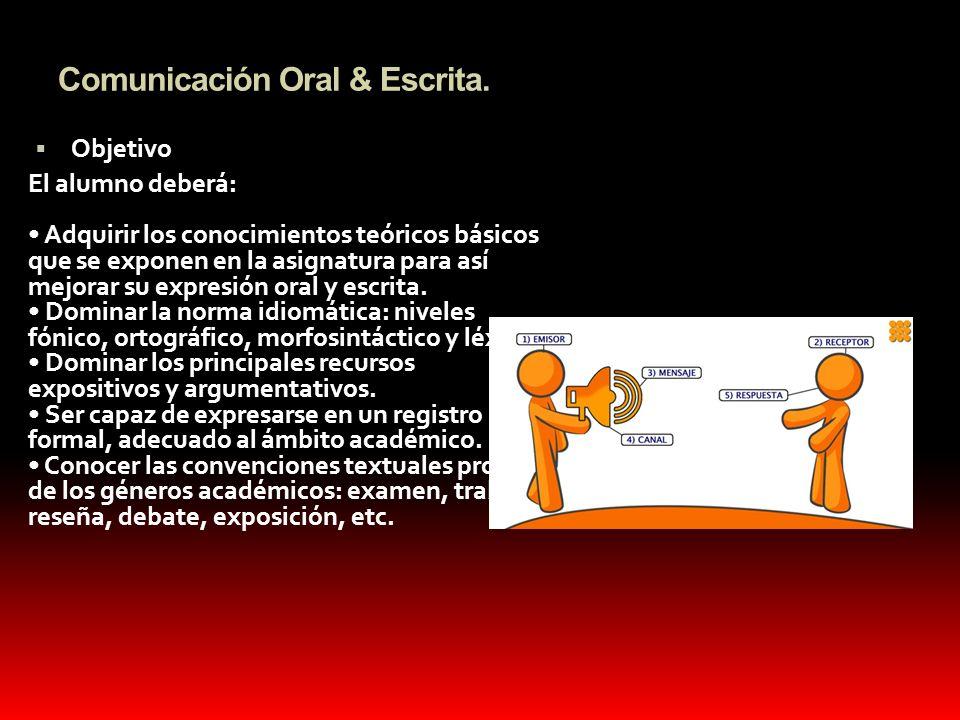 Comunicación Oral & Escrita.