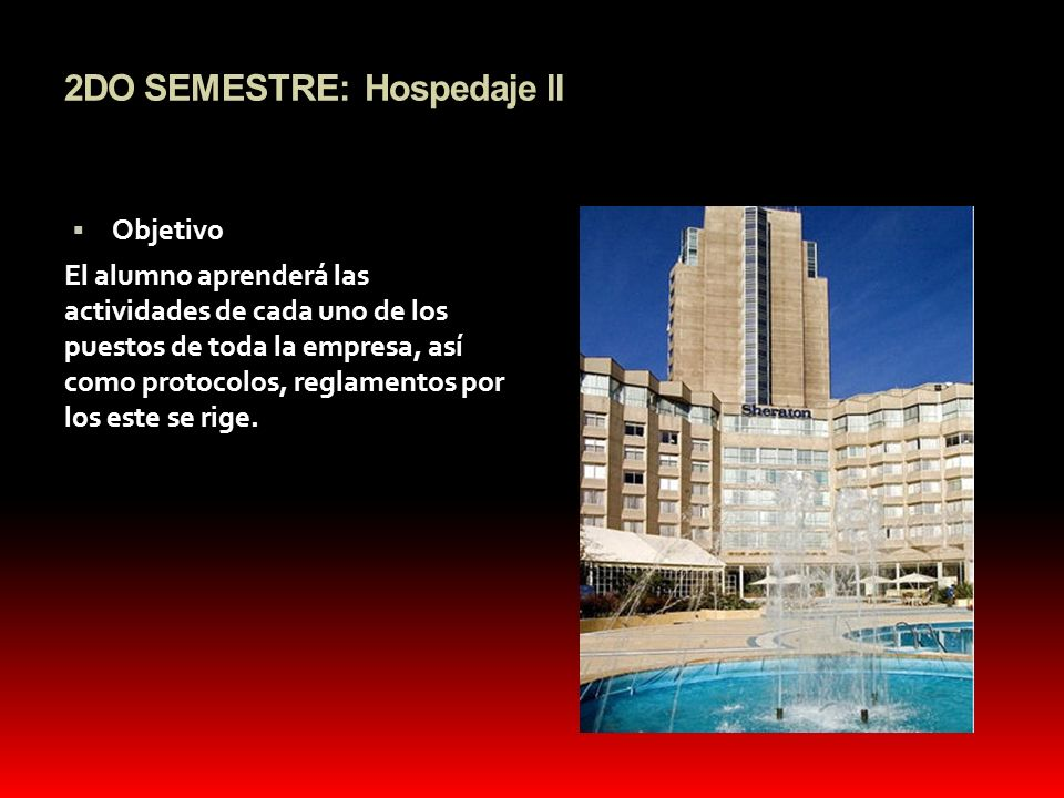 2DO SEMESTRE: Hospedaje ll