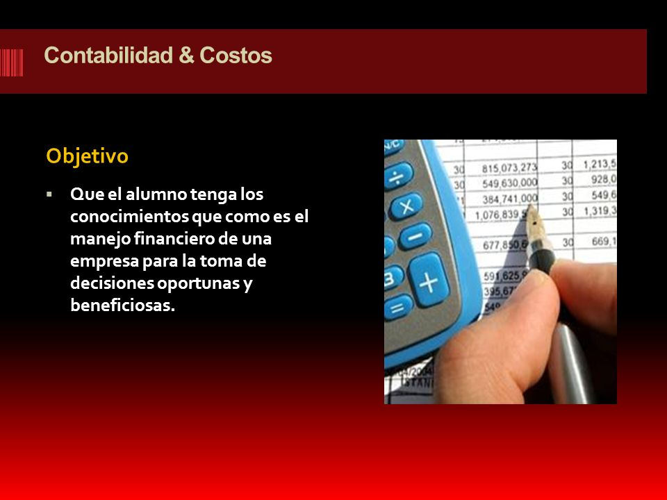 Contabilidad & Costos Objetivo