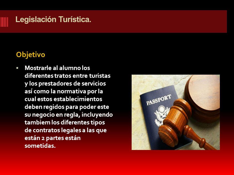 Legislación Turística.