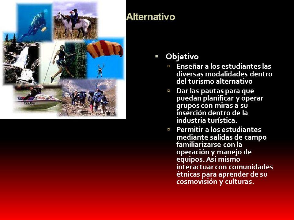 Turismo Alternativo Objetivo