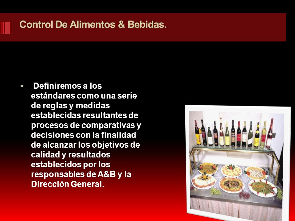 Control De Alimentos & Bebidas.