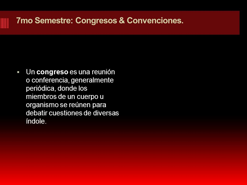 7mo Semestre: Congresos & Convenciones.