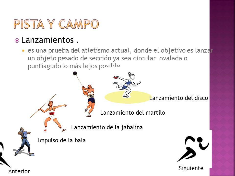 PISTA Y CAMPO Lanzamientos .
