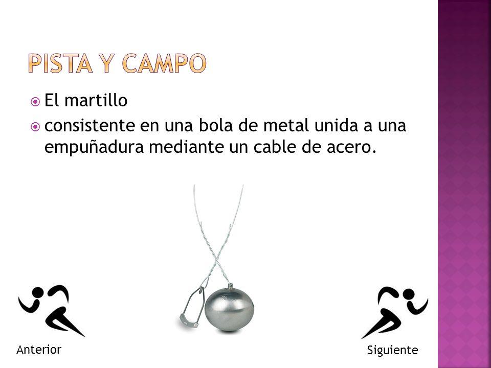PISTA Y CAMPO El martillo