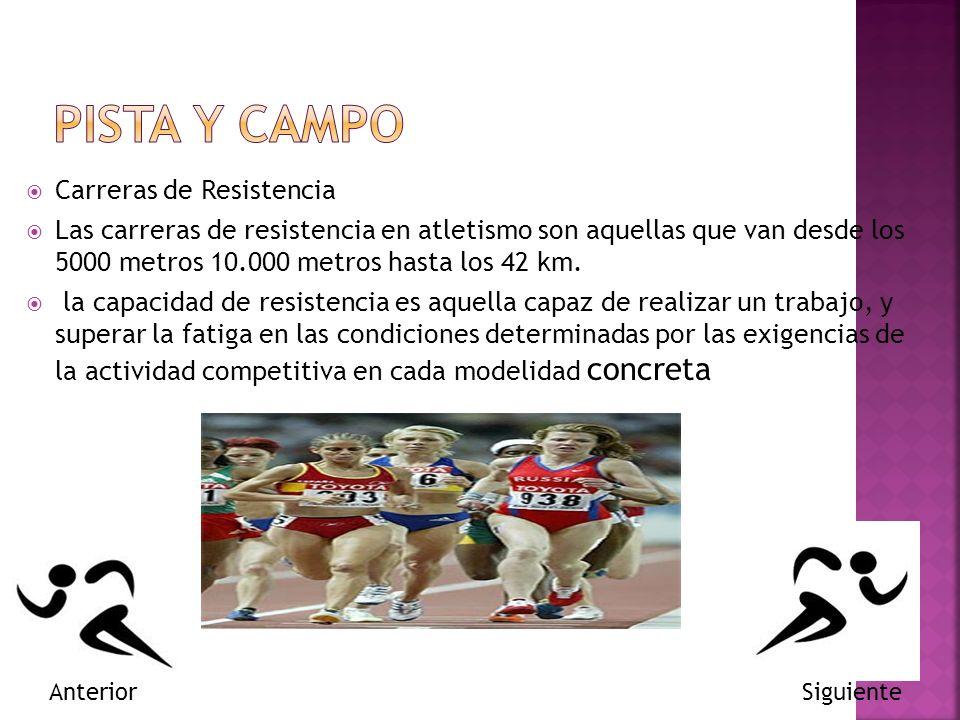 PISTA Y CAMPO Carreras de Resistencia