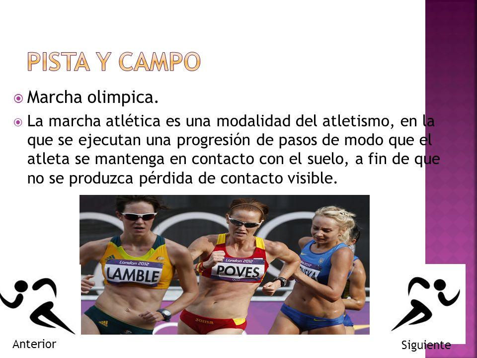 PISTA Y CAMPO Marcha olimpica.