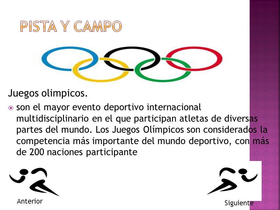 Pista y campo Juegos olimpicos.