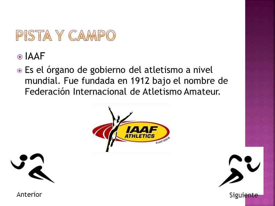 PISTA Y CAMPO IAAF.