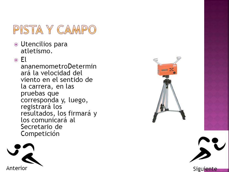 PISTA Y CAMPO Utencilios para atletismo.
