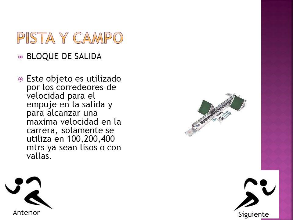 PISTA Y CAMPO BLOQUE DE SALIDA