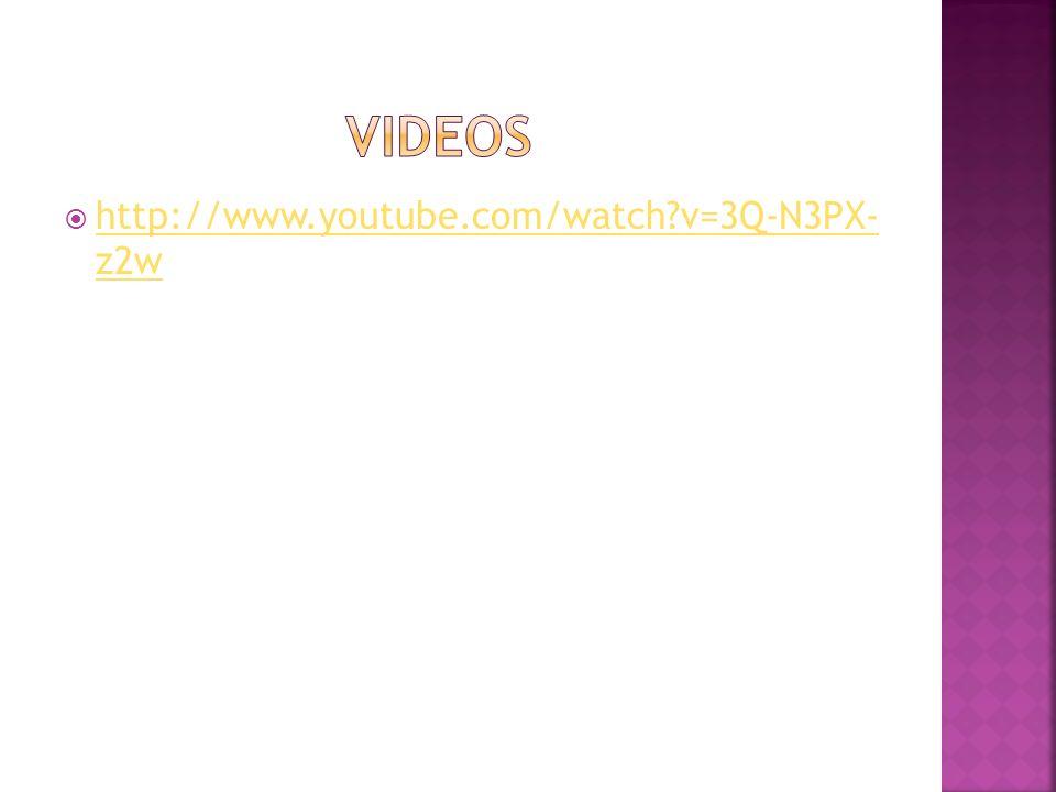 Videos http://www.youtube.com/watch v=3Q-N3PX- z2w